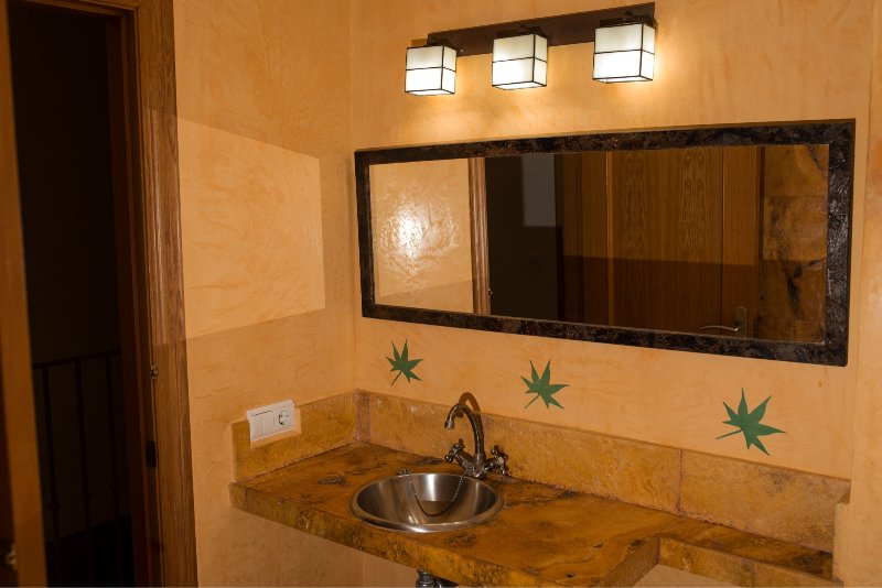 master bathroom, shower, complete
