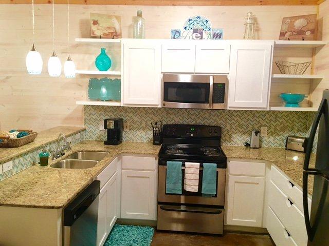 Interior, cocina, salón, fregadero, granito