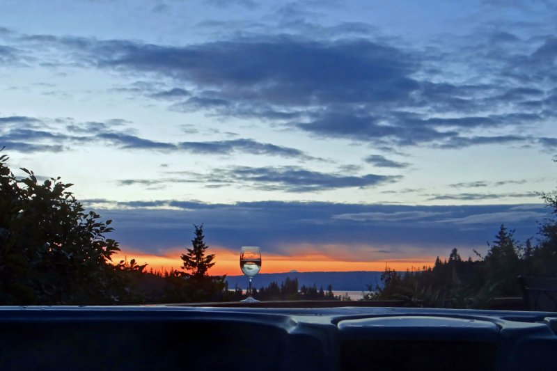 Enjoy sunset views from the hot tub and watch the Danny J Ferry return home at the end of the day.