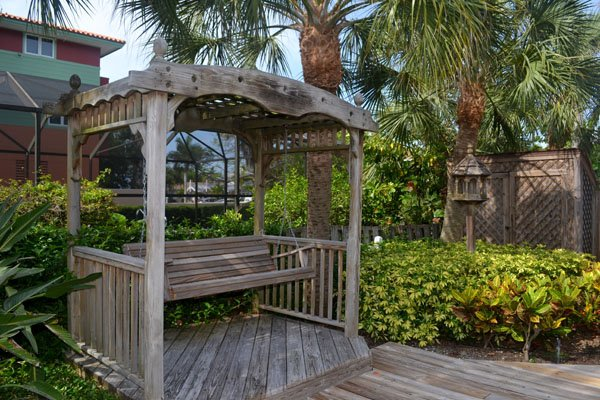Gazebo,Palm Tree,Tree,Deck,Porch