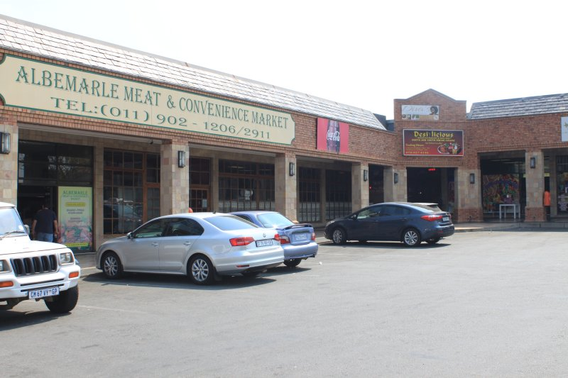 Butcher and convenience stores in complex next to Alber Lodge