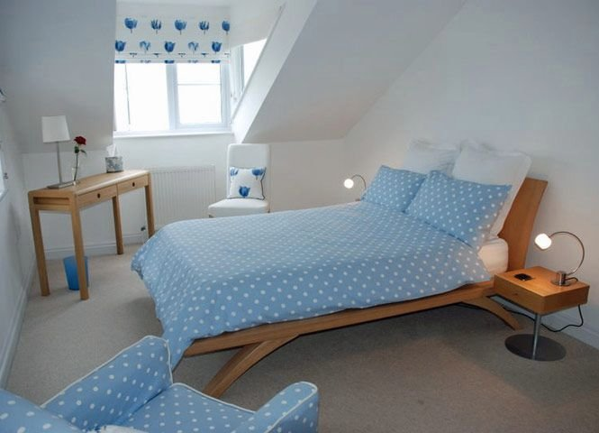 Master Bedroom with double bed & sea views