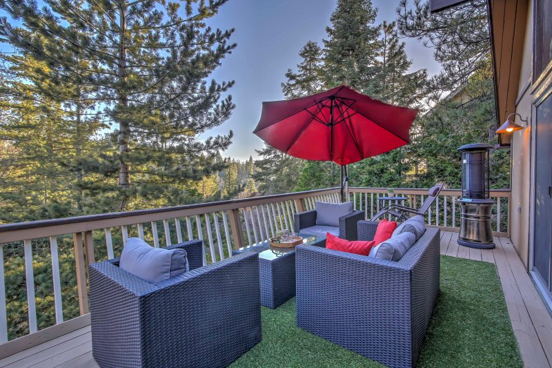 This cabin's deck will be your favorite spot to relax and enjoy the views!
