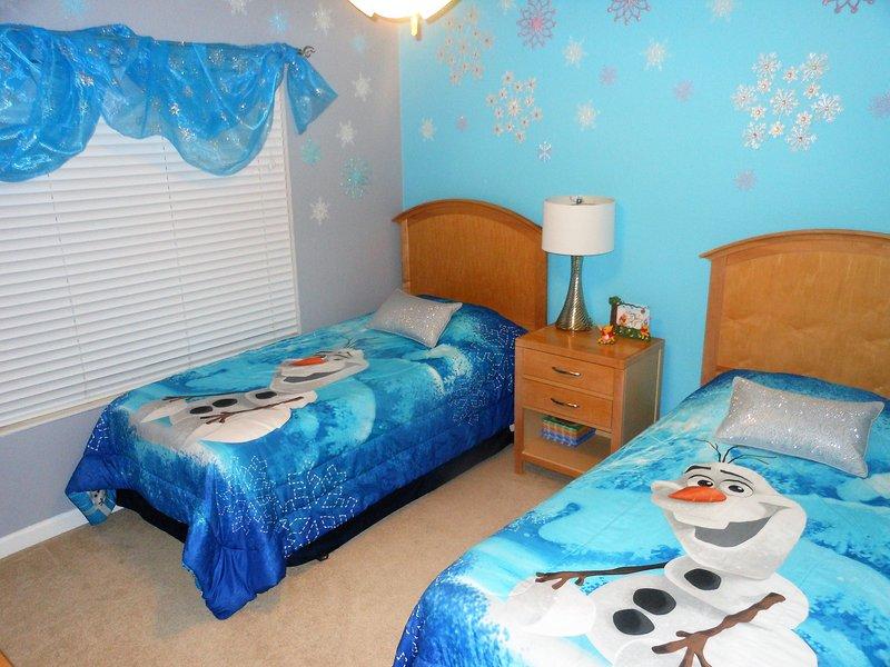 Frozen bedroom and bathroom