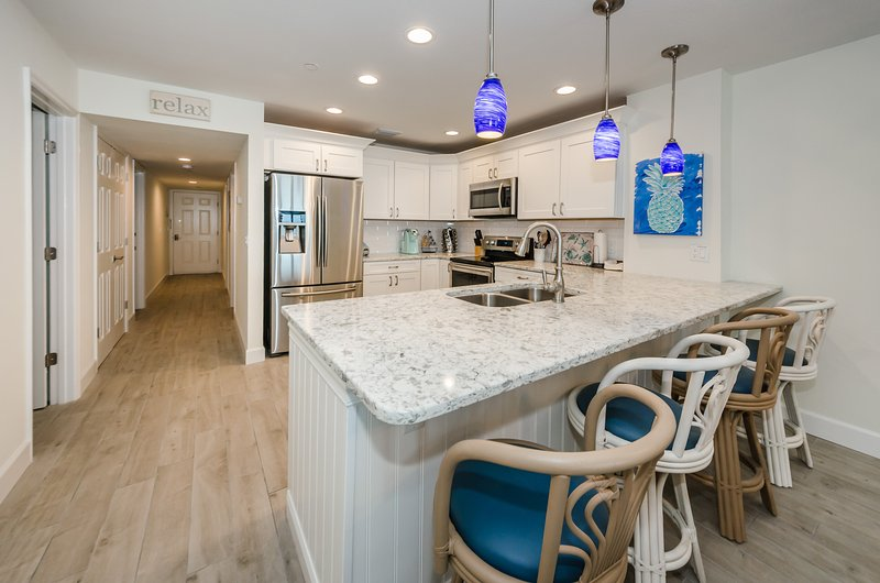 Brand new designer kitchen with everything you need for a family meal