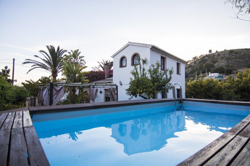 House uitzicht vanaf het zwembad