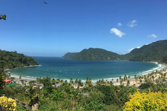 Trinidad's most famous Maracas Bay, Day trips available for a fee.