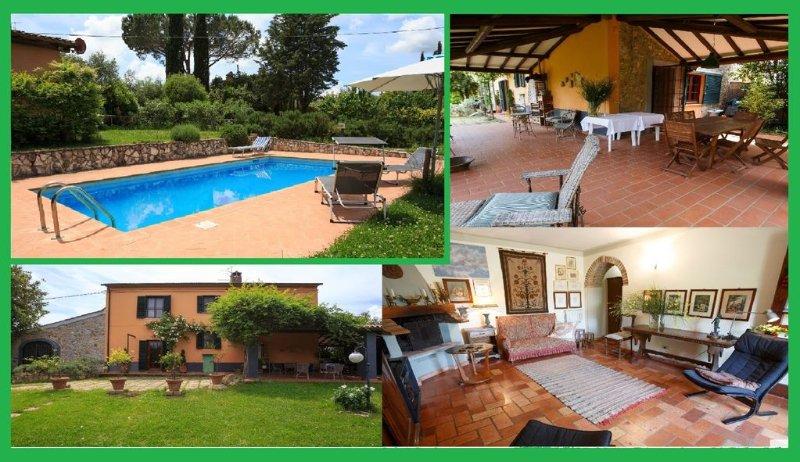 MaremmaVilla House 190 sqm. Swimming Pool Veranda Garden, location de vacances à Giuncarico