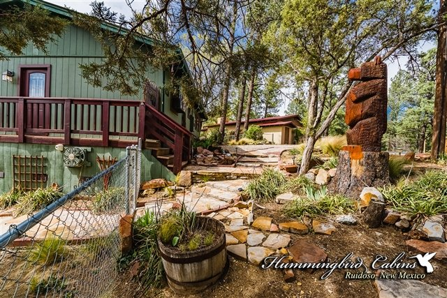Front walkway and entry to the cabin