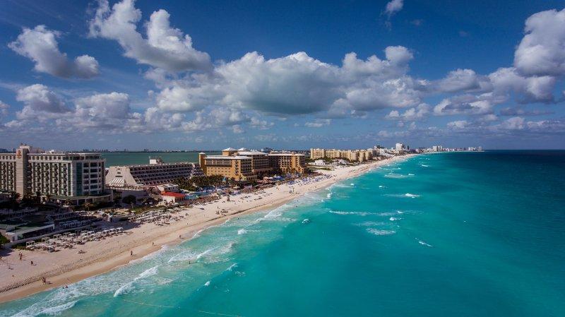 Vista de la playa y de la zona