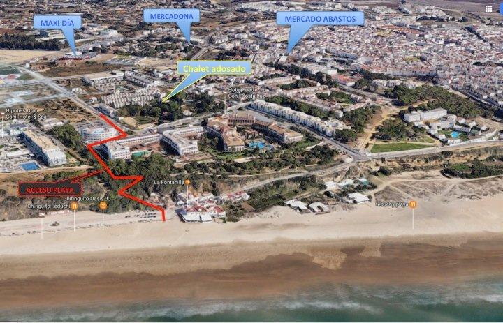L'accesso alla spiaggia a piedi (7 minuti)