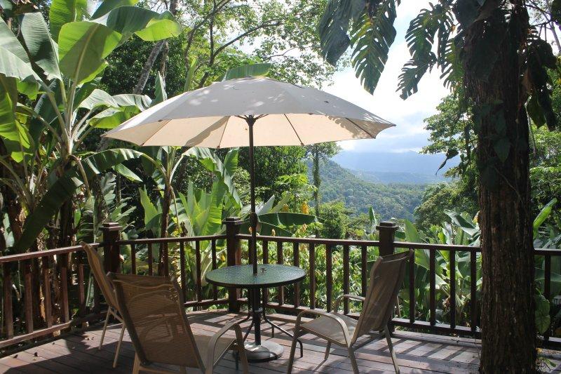 Enjoy the massive teak deck overlooking the Baru River Valley