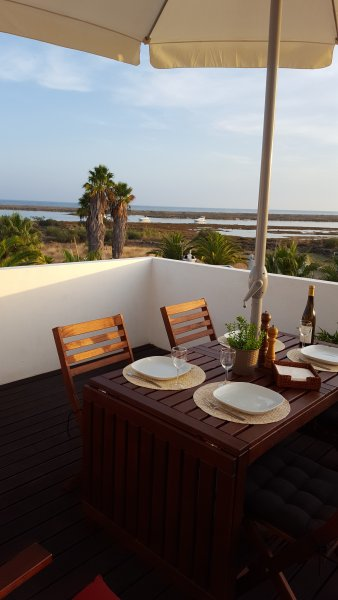 The terrace with wonderful sea view.