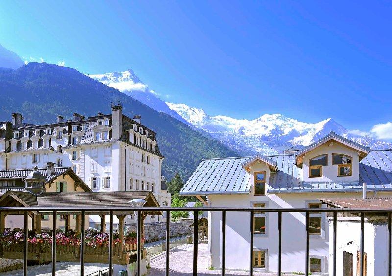 Mont Blanc vista da sacada