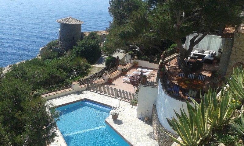Location of the villa in the sun