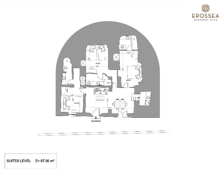 Floor plans Suites 67 m2 indoor space