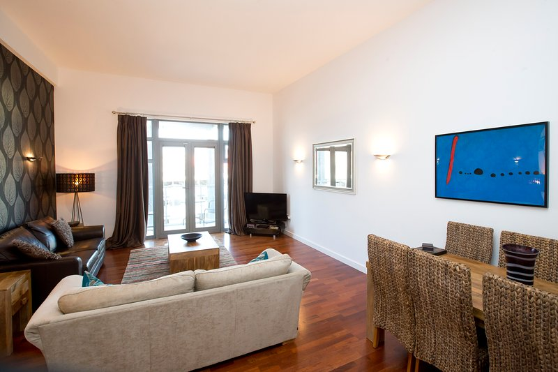 The lounge has plenty of seating plus a 50inch TV, DVD player and iPod docking station