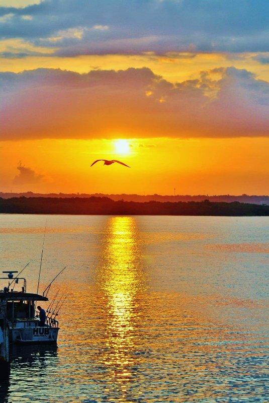 Una de nuestras puestas de sol que nunca olvidará