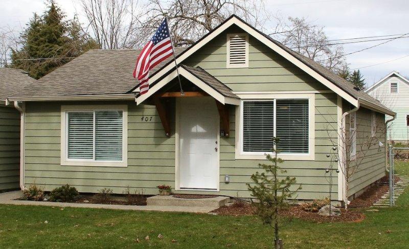 Detta är den bungalow som du ser när du kör upp.