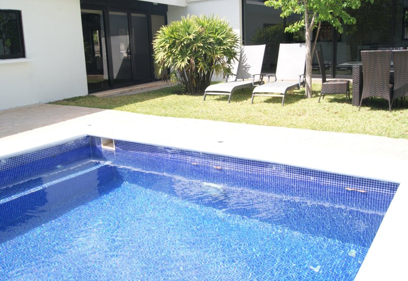 Pool side door and private entrance from street