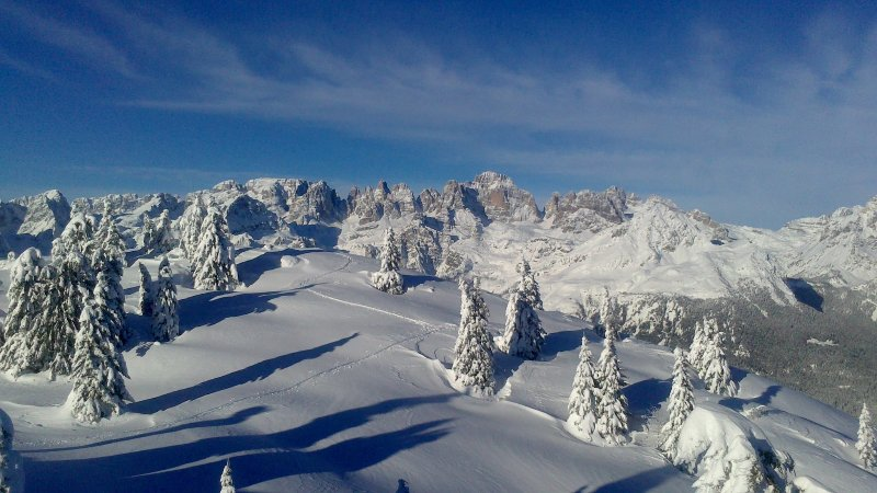 The Dolomites in winter