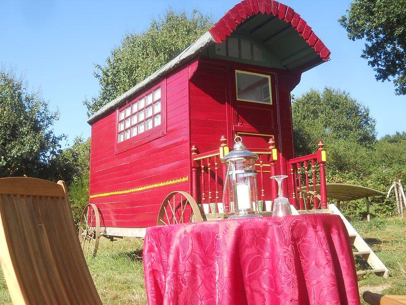 The Shepherds Hut, vacation rental in Champgenéteux