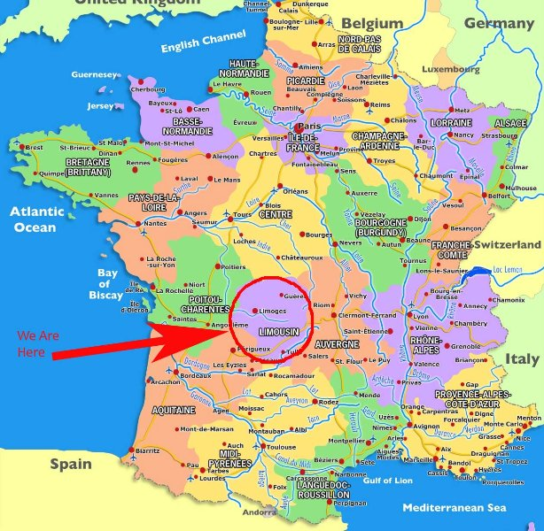 The cottage is in the Haute Vienne, SW France, dept 87. Limoges is the departmental capital.