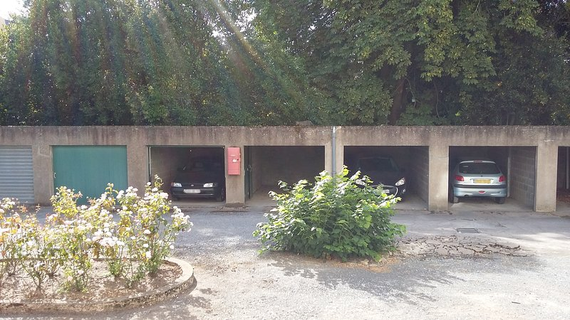 The apartment is provided with a garage