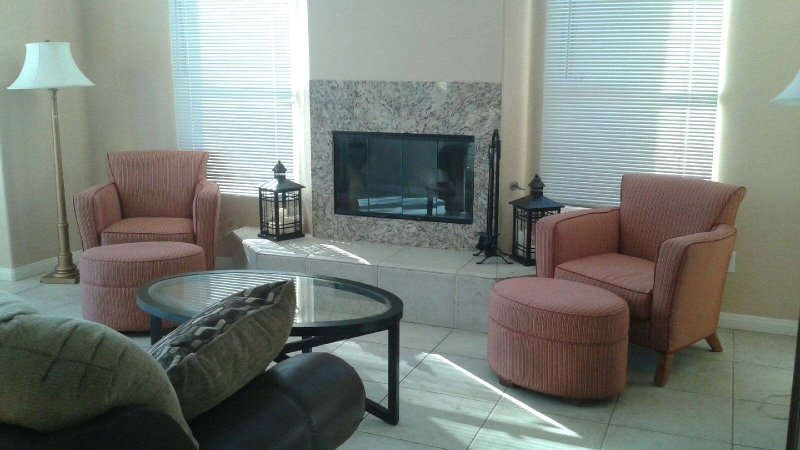 Fireplace sitting area