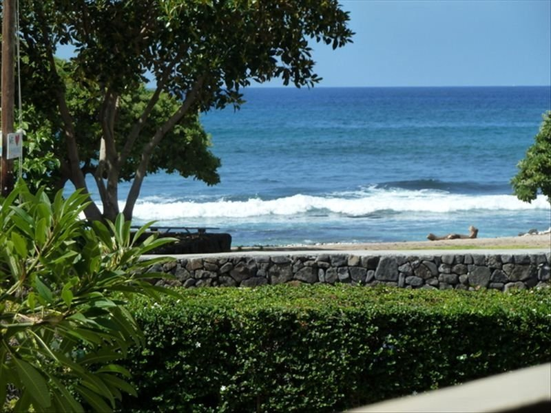 Le matin de votre véranda privée. Excellente vue sur l'océan angle.