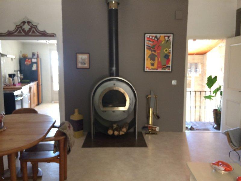 Salon/salle à manger/cheminée
