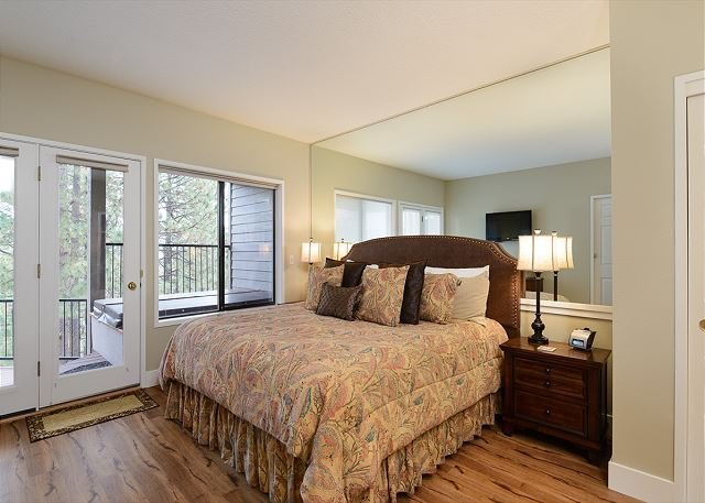 Open and bright bedroom