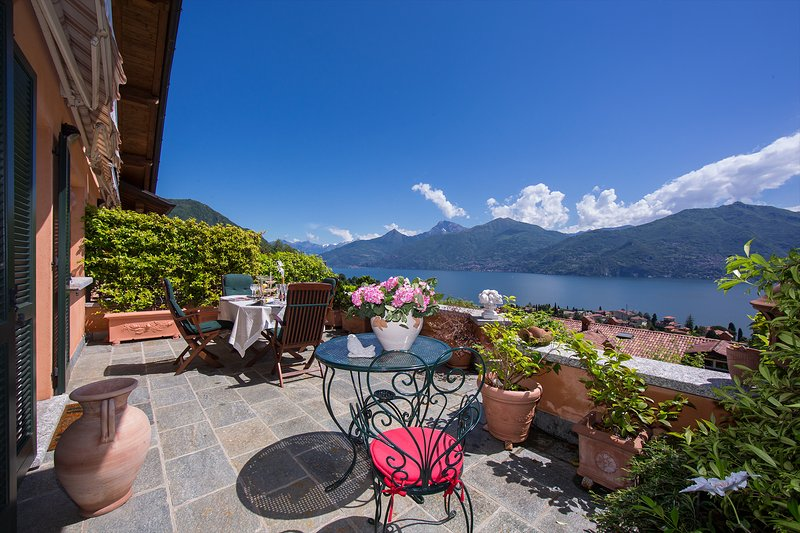 Schöne Aussicht von der Terrasse