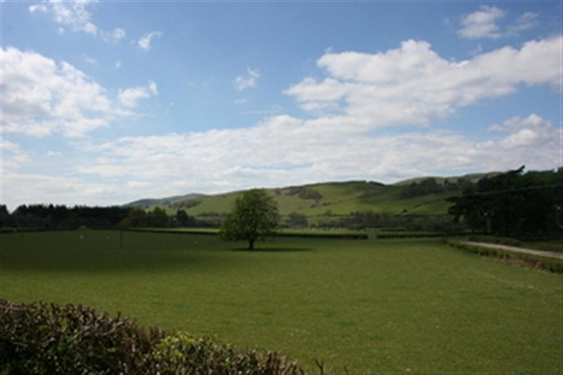 Lovely views over the peaceful farmland of the Dyfi Valley