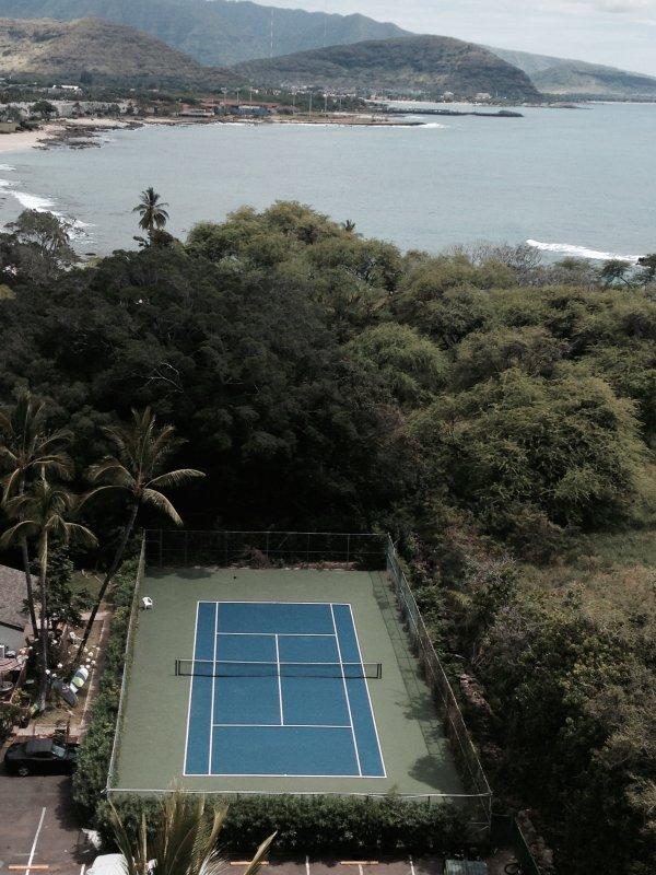 tennis court on site.