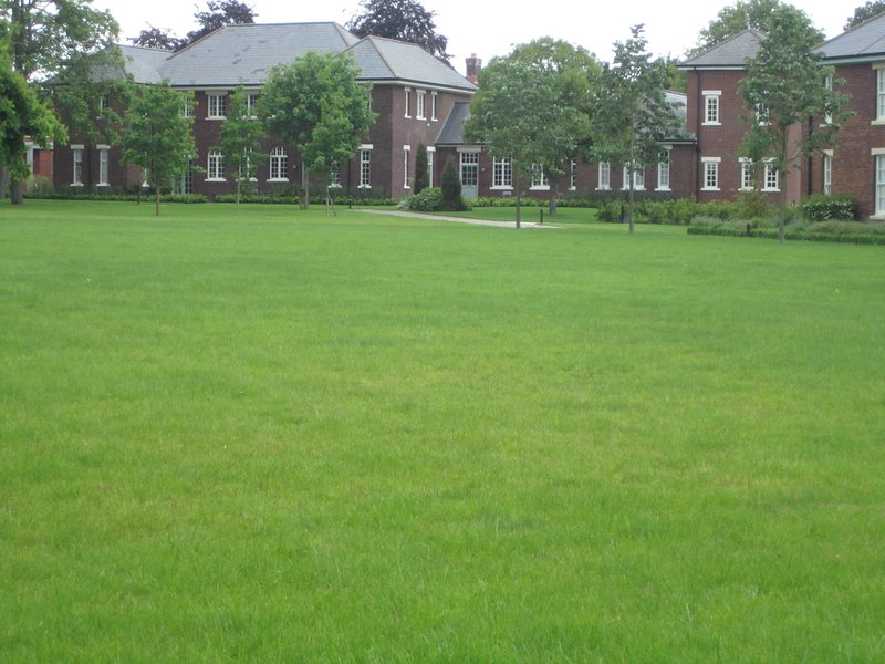 We overlook the large Parade Ground with seating areas.