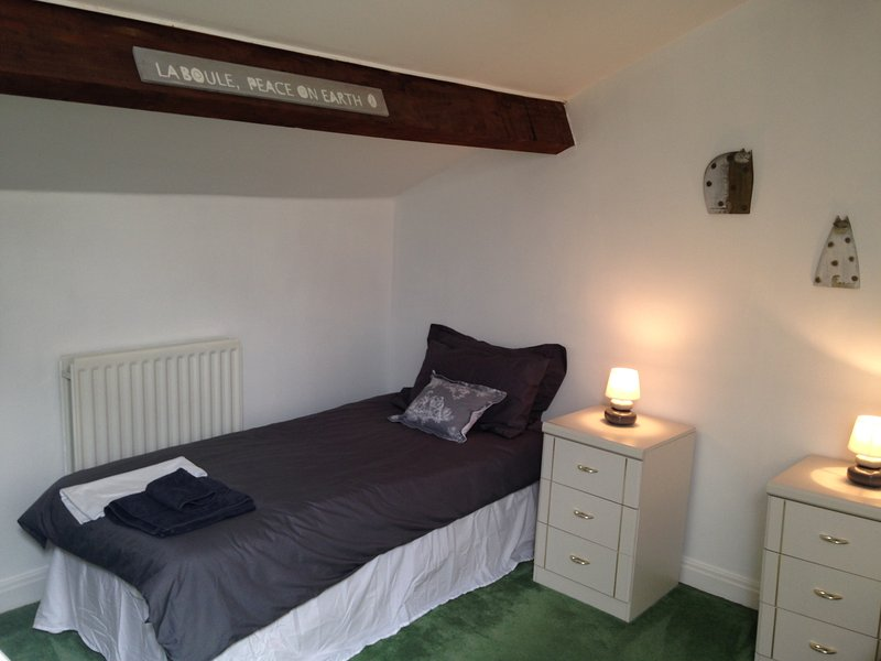 Bedroom two. Twin room with two single beds (Beds may change to wooden sleigh beds)