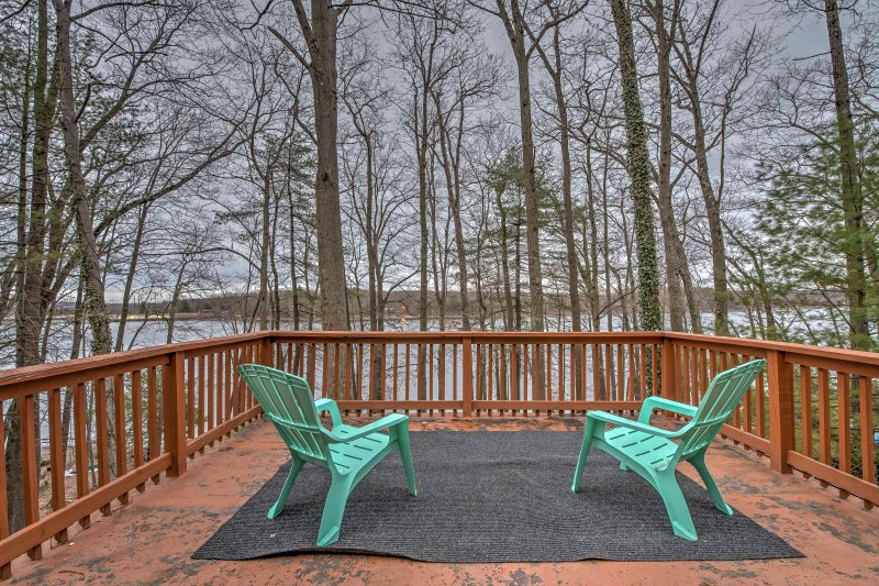 The ultimate lakefront getaway awaits at this 4BR, 2-bath vacation rental!