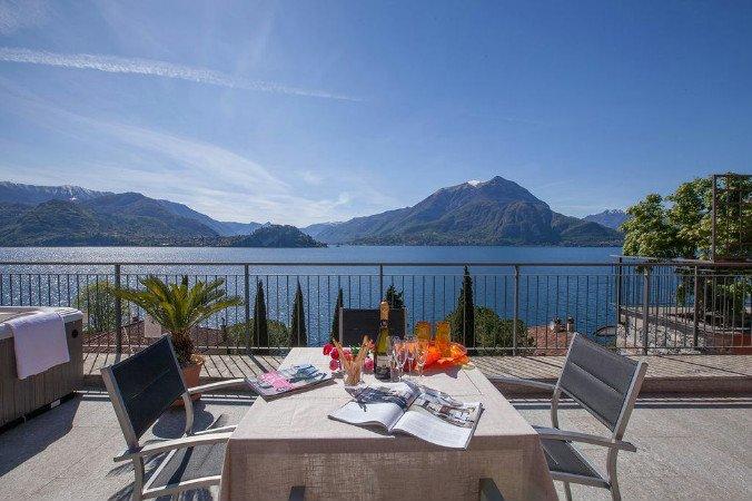 Incredibile vista lago dalla terrazza