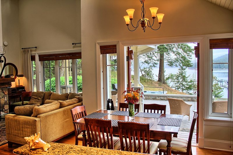 Enjoy the open-plan layout of the cottage, complete with private hot tub