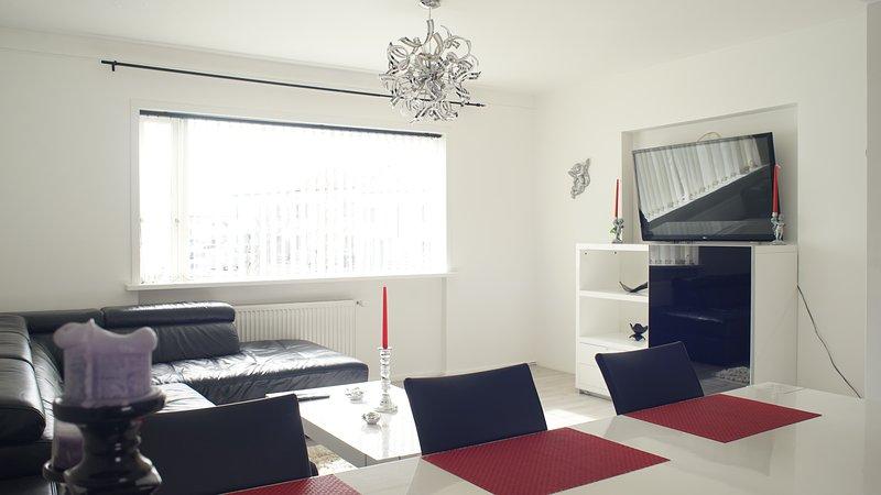 Bottenvåningen lägenhet vardagsrum