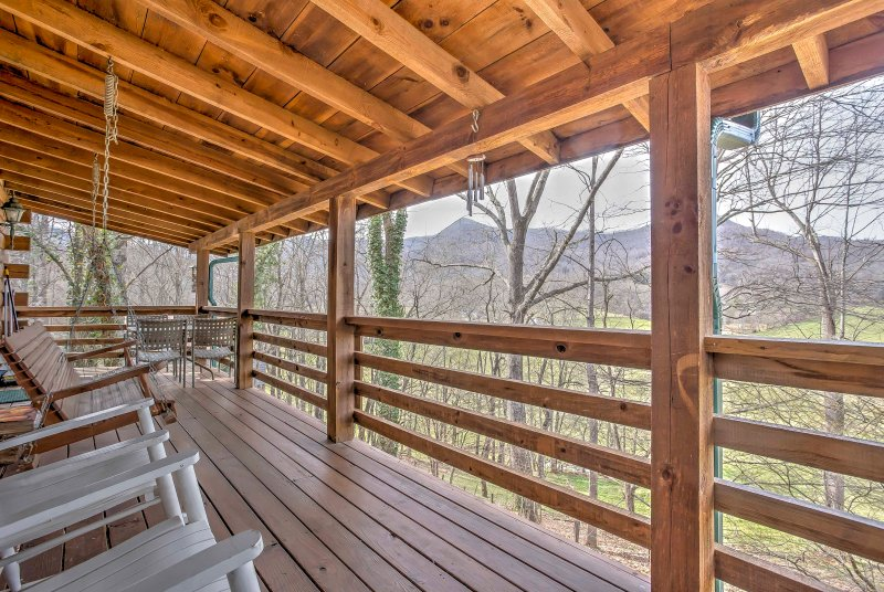 Elevate your Smoky Mountain getaway at this Waynesville vacation rental cabin!