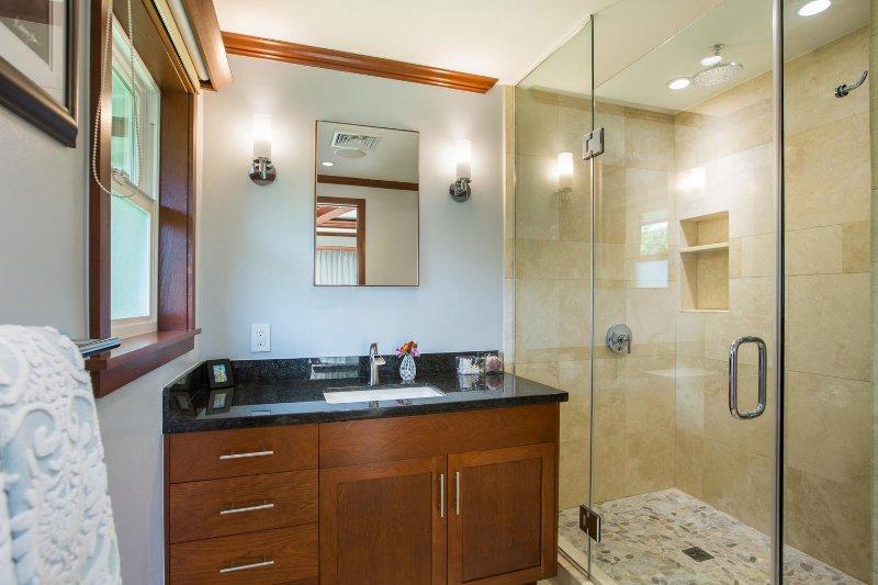 First-floor master bathroom.