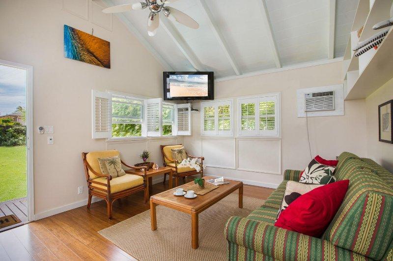 Guest cottage living room.