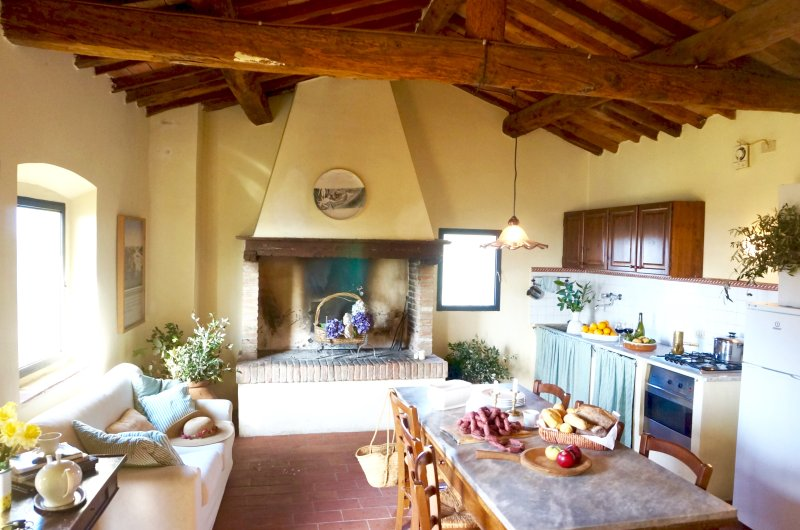 Lovely Farm Stay  - Terra Rossa - Stunning views - Pool - Authentic Tuscany, alquiler vacacional en Palaia