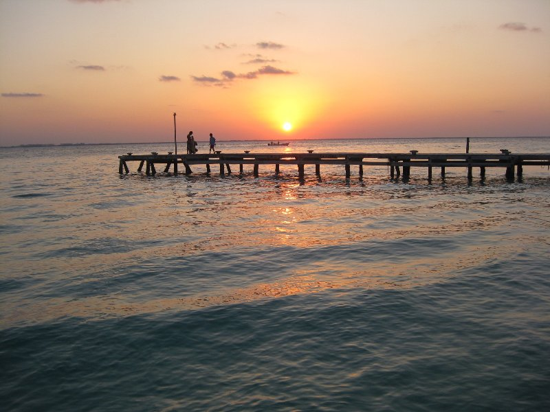 Coucher de soleil sur Isla Mujeres