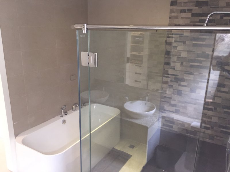 Ensuite bathroom for the Master bedroom. Large walk in shower and bath.
