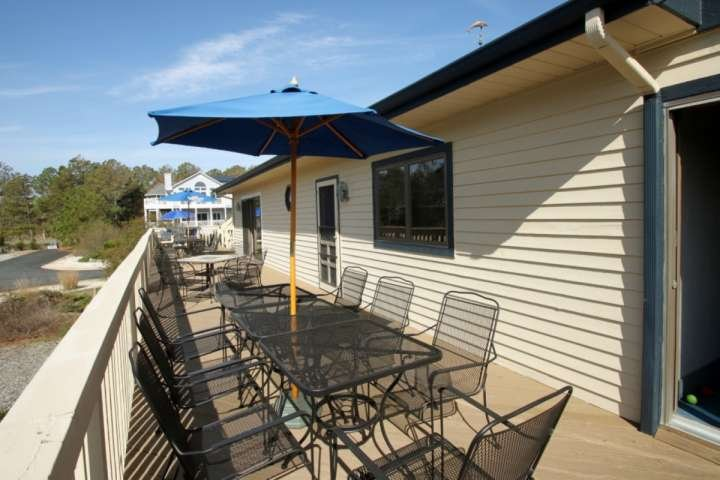 Lots of Covered Dining On the Deck