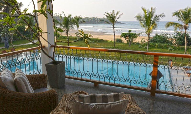uw eigen visie van het paradijs vanaf het bovenste balkon