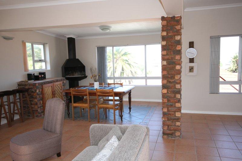 Spacious lounge/kitchen/braai/dining area